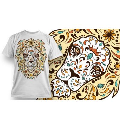 Tee-Shirt Personnalisé Blanc motif Sugar Lion