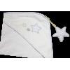 Cape-de-Bain CELESTE (400g/m2) Blanc-Gris perle NOUVEAUTE