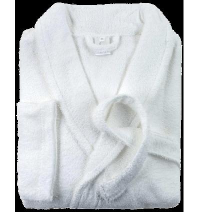 Peignoir de Bain (Homme - Femme) Col Chale FIRST (380g/m2) Blanc