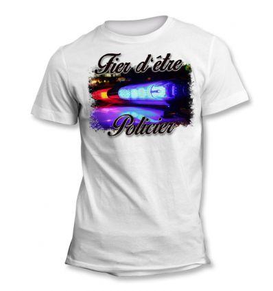 Tee-Shirt Fier d'être Police