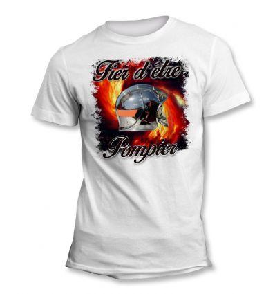 Tee-Shirt Fier d'être Pompier