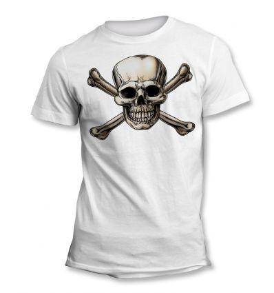 Tee-Shirt tête de mort et os