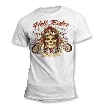 Tee-Shirt Skull Hell Rider
