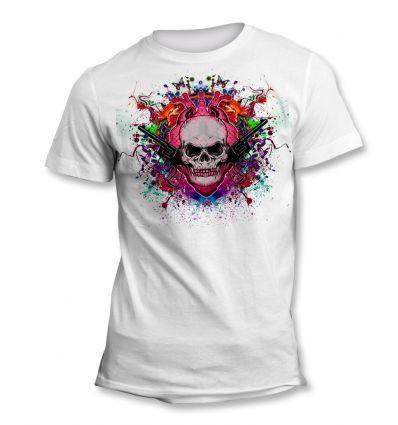 Tee-Shirt Skull Pistolet