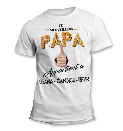 Tee-Shirt Papa à moi