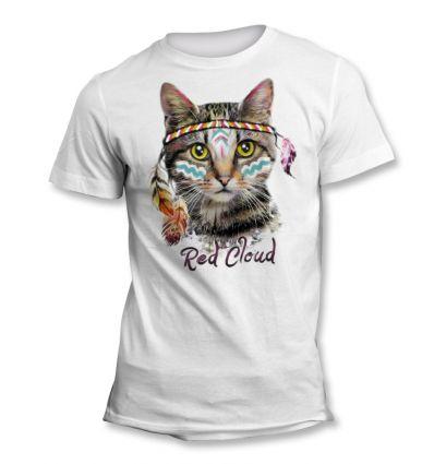 Tee-Shirt Chat Hippie