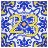Plaque numéro de maison azulejo