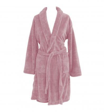 Robe de Chambre Polaire Rose poudré XL