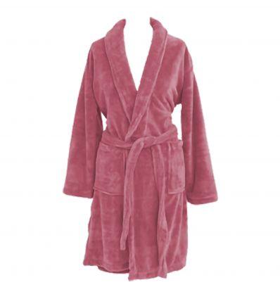 Robe de Chambre Polaire Rose Blush XL