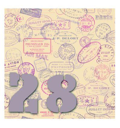 Plaque numéro de maison stamp