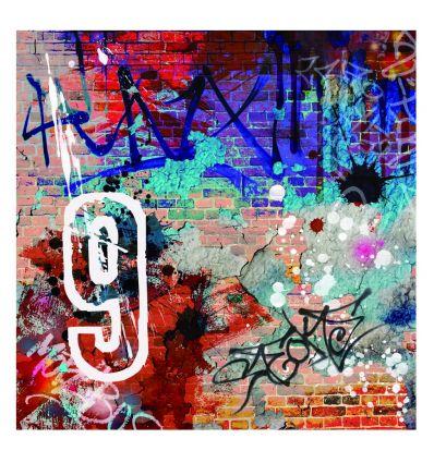 Plaque numéro de maison street art