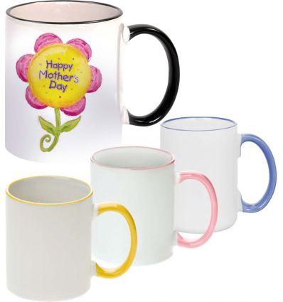 Mug couleur Rose Personnalisé