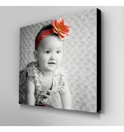 Toile Photo Noir & Blanc et touche couleur