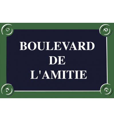 Plaque de rue Paris personnalisée