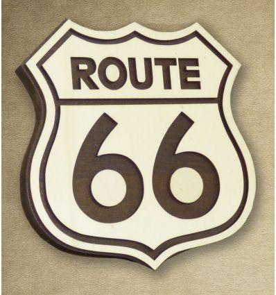 Logo bois route 66