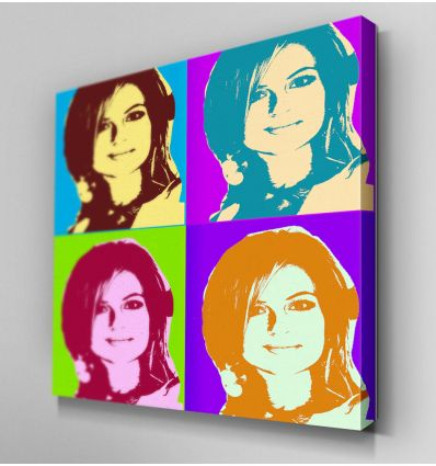Portrait Andy Warhol 4 cases