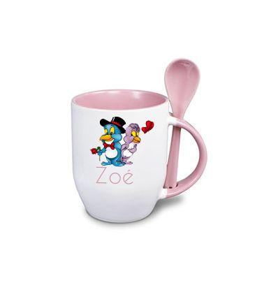 Mug Cuillère Personnalisé Rose