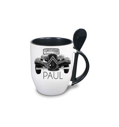 Mug Cuillère Personnalisé Noir