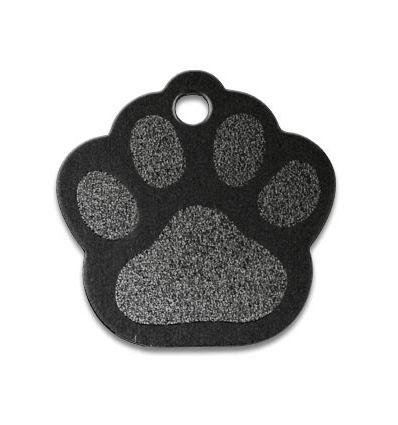 Médaille Patte de chien Noir