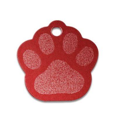 Médaille Patte de chien rouge