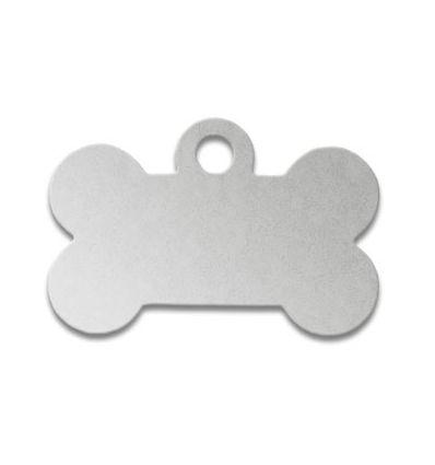 Médaille os de chien alu argent