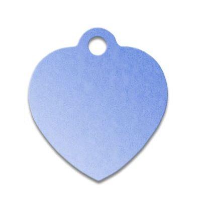 Médaille os de chien alu bleu