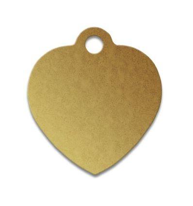 Médaille chien coeur alu dore