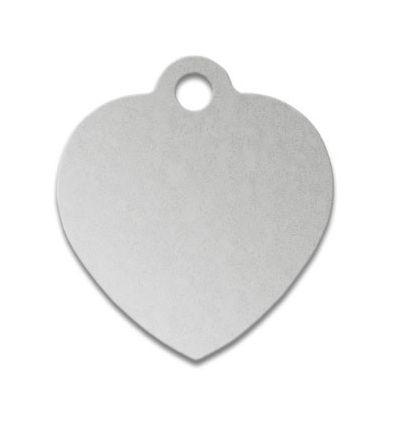 Médaille chien coeur alu argent