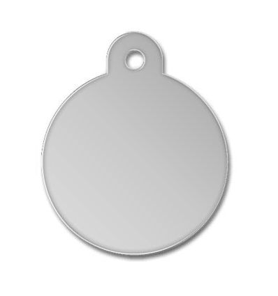 Médaille chien alu ronde argent