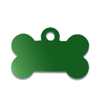 Médaille os de chien alu vert