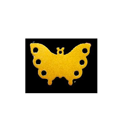 Médaille chien Papillon Jaune