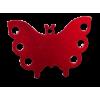 Médaille chien Papillon Rouge