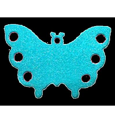 Médaille chien Papillon bleu