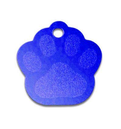 Médaille Patte de Chien Alu Bleu