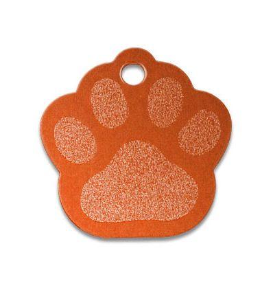Médaille Patte de Chien Alu Orange