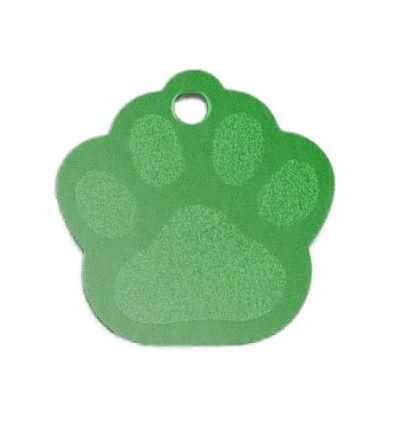 Médaille Patte de Chien Alu vert
