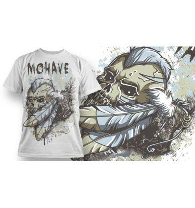 Tee-Shirt Personnalisé Blanc motif Indian Skull